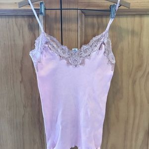 Banana Republic light pink lace camisole